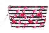 Make-up tas flamingo stripes_