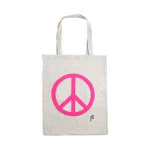 Schoudertas canvas peace