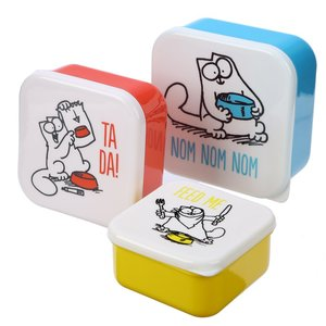 Set van 3 lunchdoosjes Simon's Cat