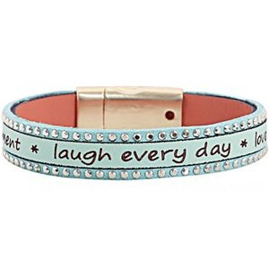 Mooie armband Laugh every day (mint)