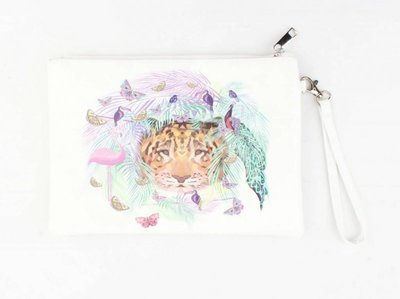 Grote make-up tas / clutch Animals