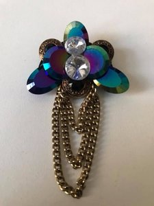 Broche blue gold